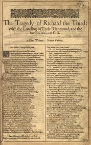 Shakespeare Richard III First Folio
