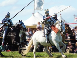 Richard III's Cavalry Charge at Bosworth Re-enactment 2013