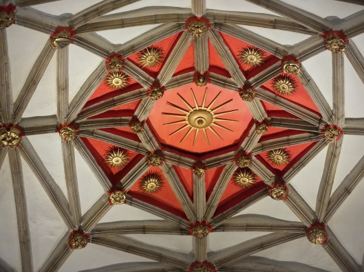 Edward IV's Sunne in Splendour on Tewkesbury Abbey ceiling