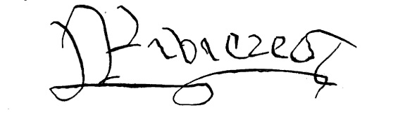 Signature of Anthony Woodville, Earl Rivers