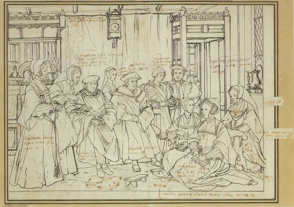 Holbein's Preparatory Sketch