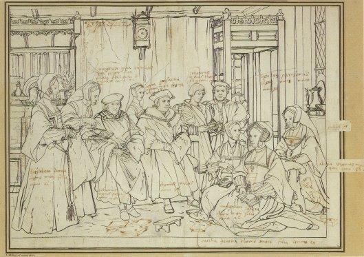 Holbein's Preparatory Sketch
