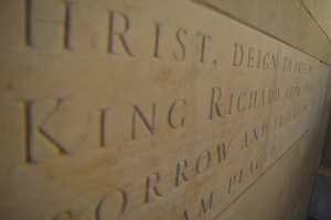 Engraving at the Richard III Visitor Centre