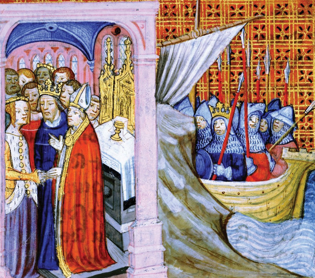 Eleanor-of-Aquitaine-Louis-VII-Second-Crusade Britannica